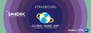 Illustration pour la globale Game Jam 2020 au Shadok