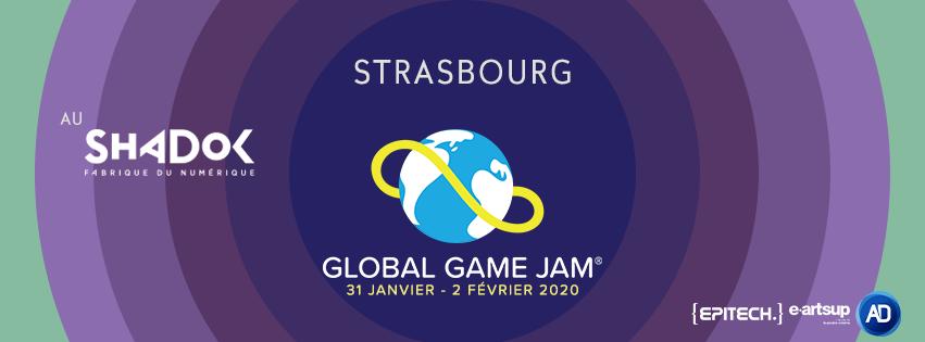 Illustration pour la globale Game Jam 2020 au Shadok